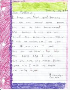 Kid's letter 1