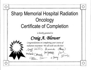 Radiation Certificate